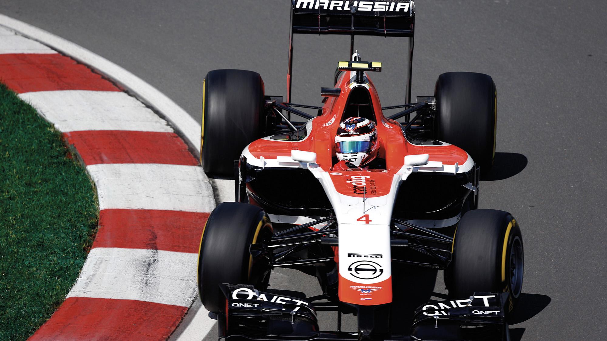 Max Chilton in a Marussia