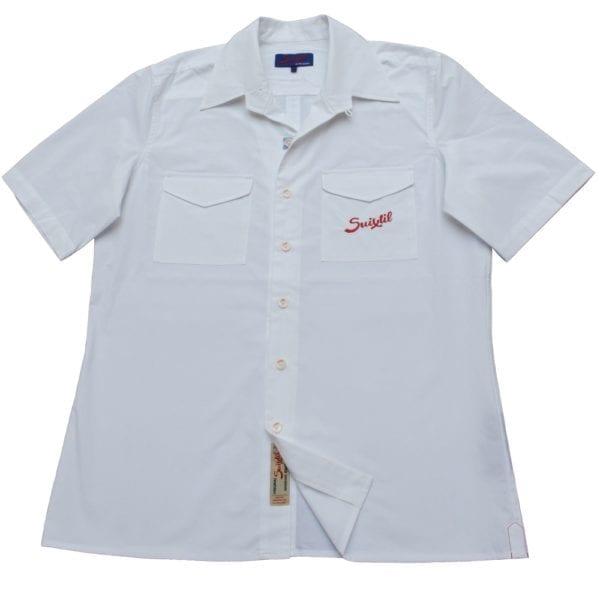 white shit suixtil racing short sleeve