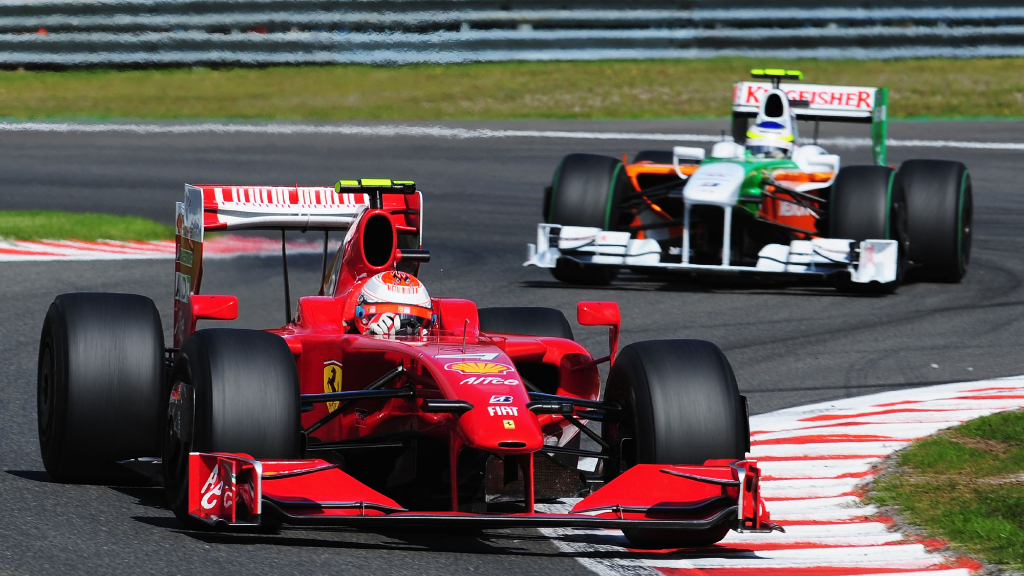 Kimi Raikkonen, Giancarlo Fisichella, 2009 Belgian GP
