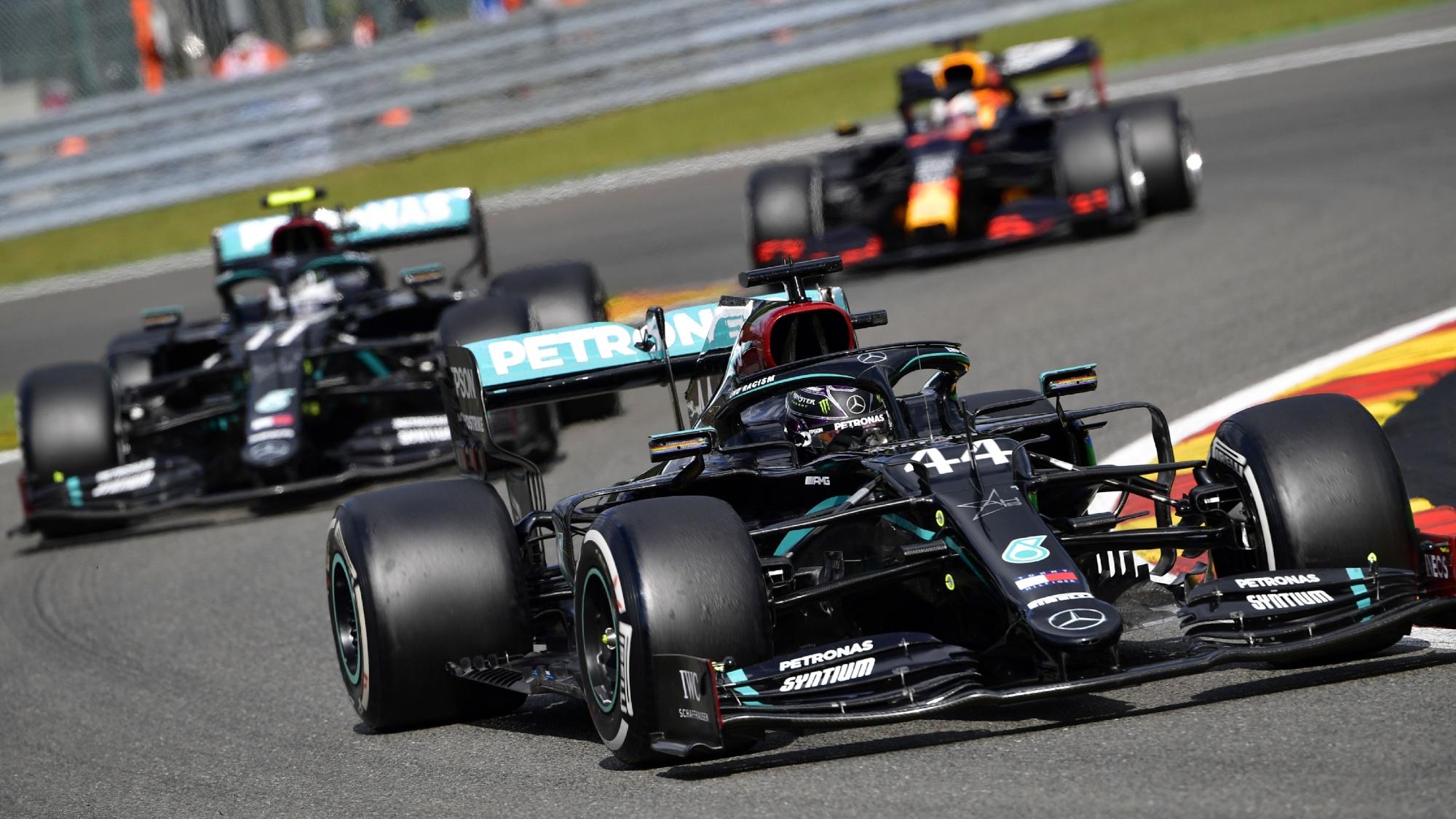 Hamilton, Bottas, Verstappen, 2020 Belgian GP