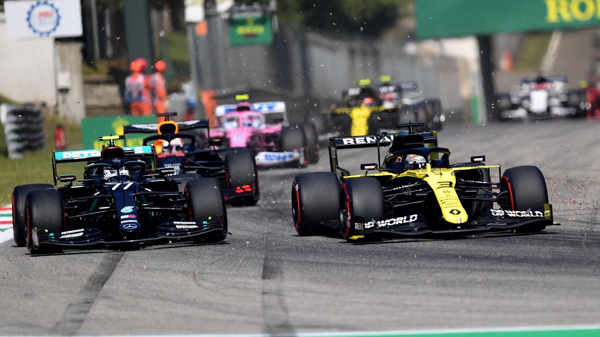Daniel Ricciardo, Valtteri Bottas, 2020 Italian GP