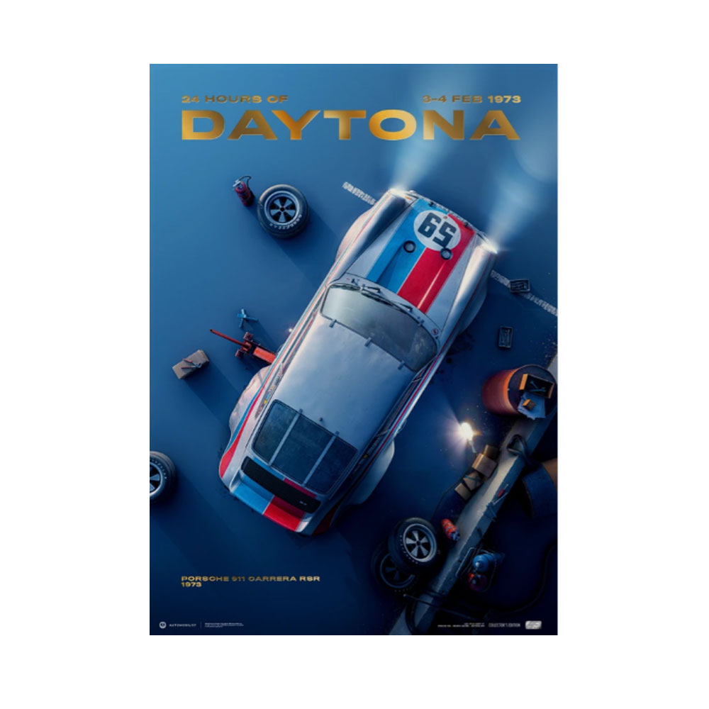 Product image for Porsche 911 Carrera RSR - Past - Daytona - 1973 | Automobilist | Collector's Edition poster