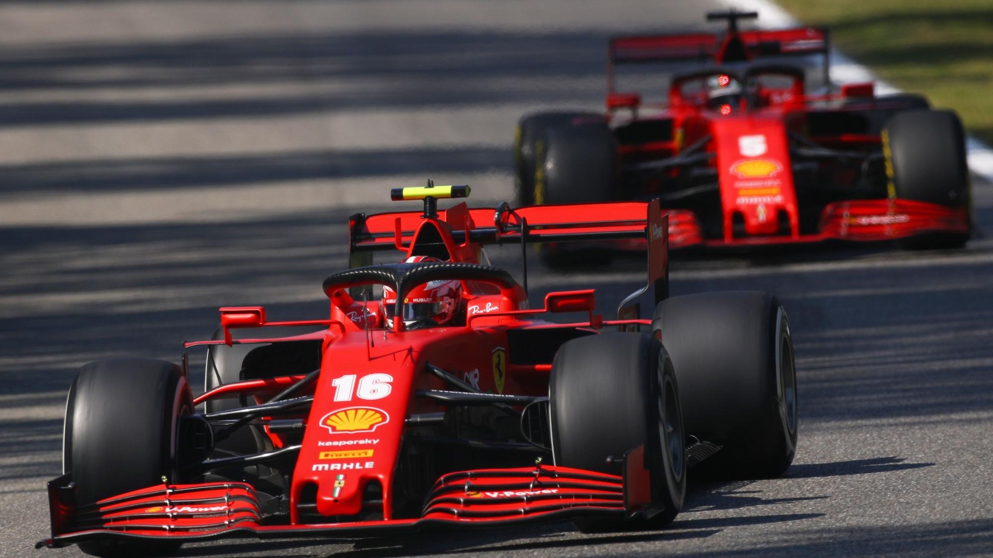 Charles Leclerc, Sebastian Vettel, 2020 Italian GP