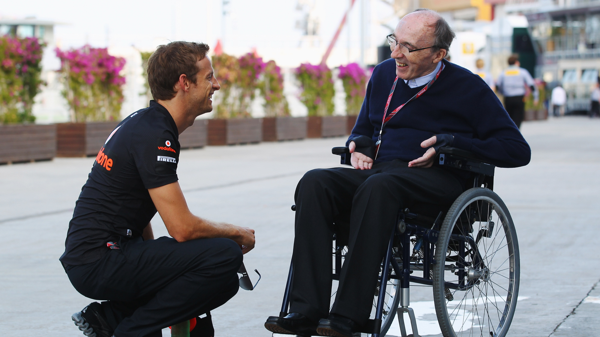 Jenson Button, Frank Williams, 2011 EuropeanGP