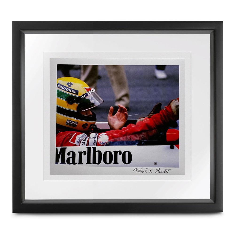 Product image for Ayrton Senna 'the glove'   Monaco 1990   Michael Hewett   signed Michael Hewett   Photographic print