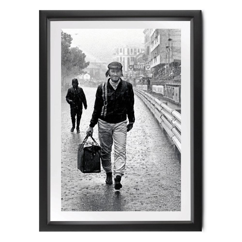 Product image for Graham Hill   Monaco 1971   Michael Hewett   signed Michael Hewett   Photographic print