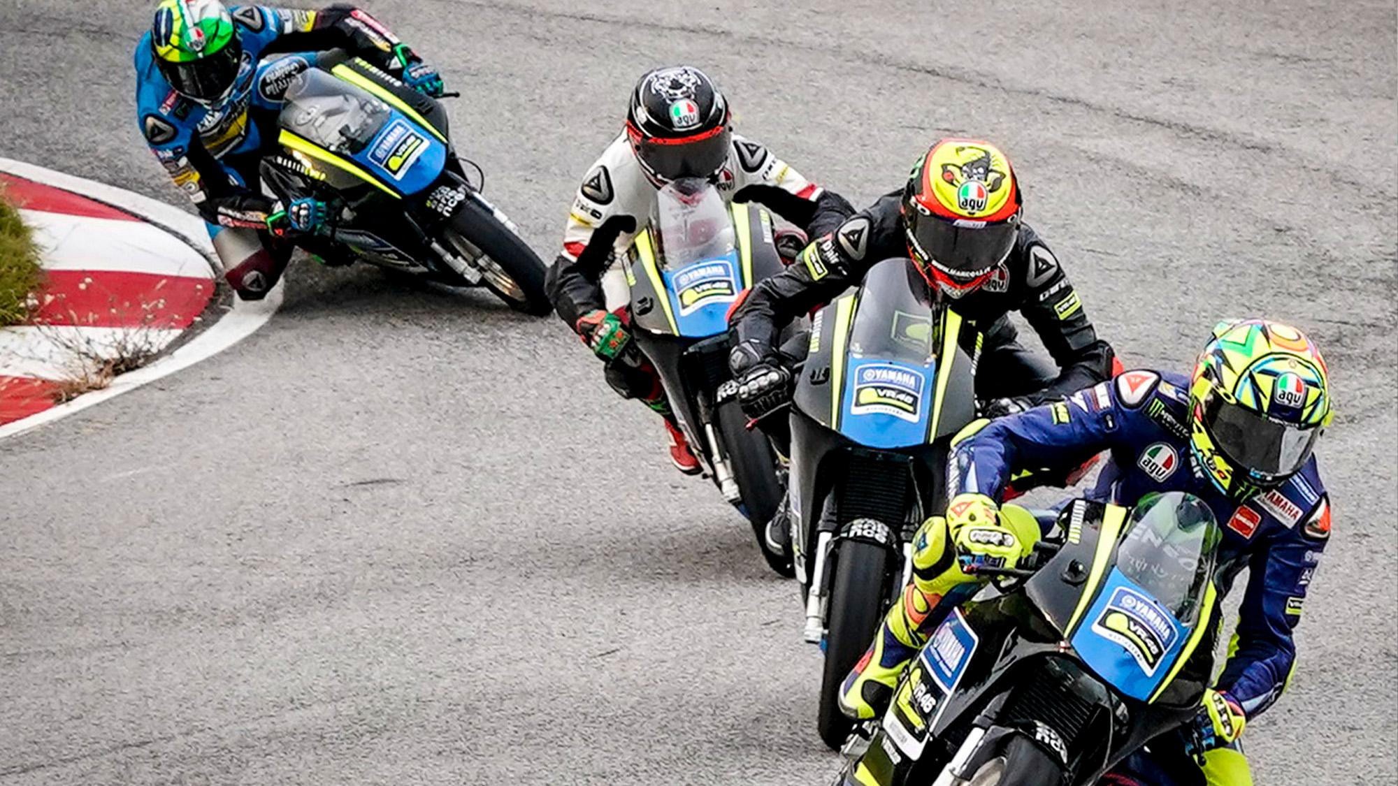 Rossi, Bezzecchi, Nico Antonelli and Morbidelli