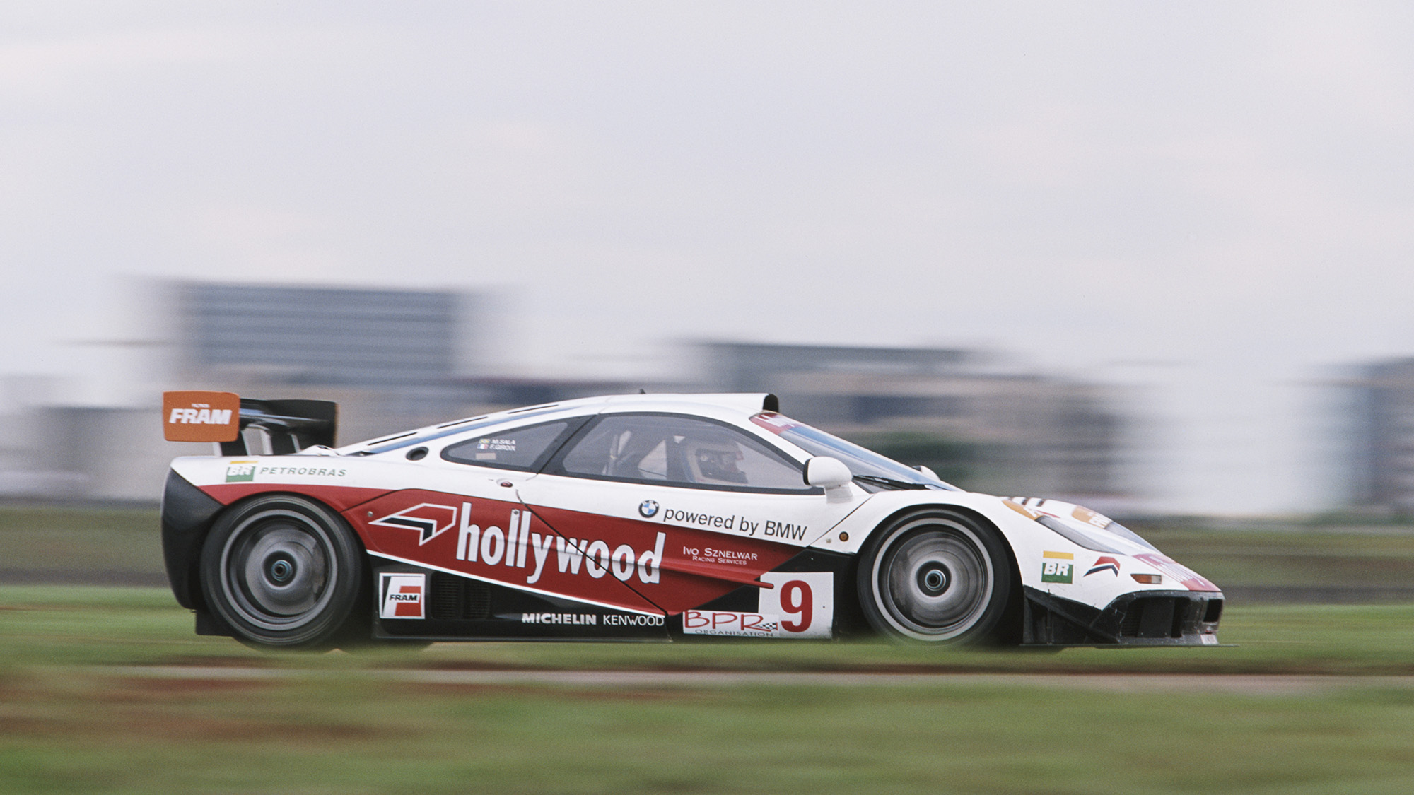 Maurizio Sandro Sala of Brazil drives the Hollywood McLaren F1 GTR during the BPR Global GT Endurance Series 2 Hours of Brasilia race on 16th December 1996 at the Brasilia Circuit