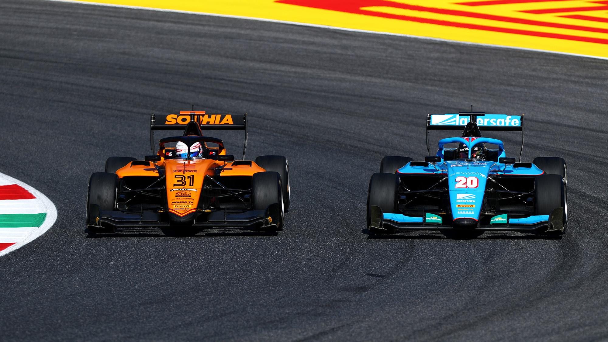 Sophia Floersch racing in the European F3 championship