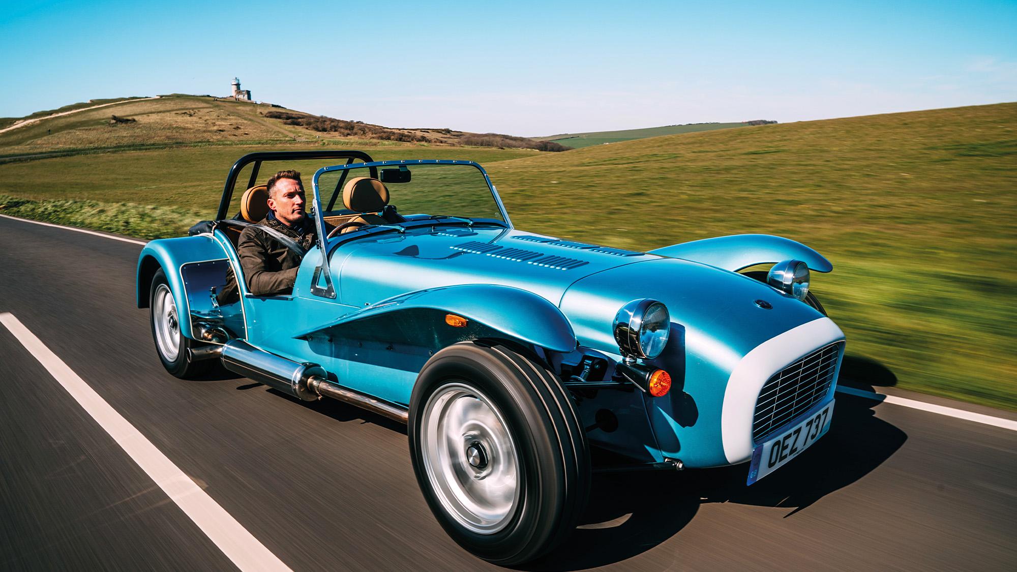Caterham Super Seven on the road
