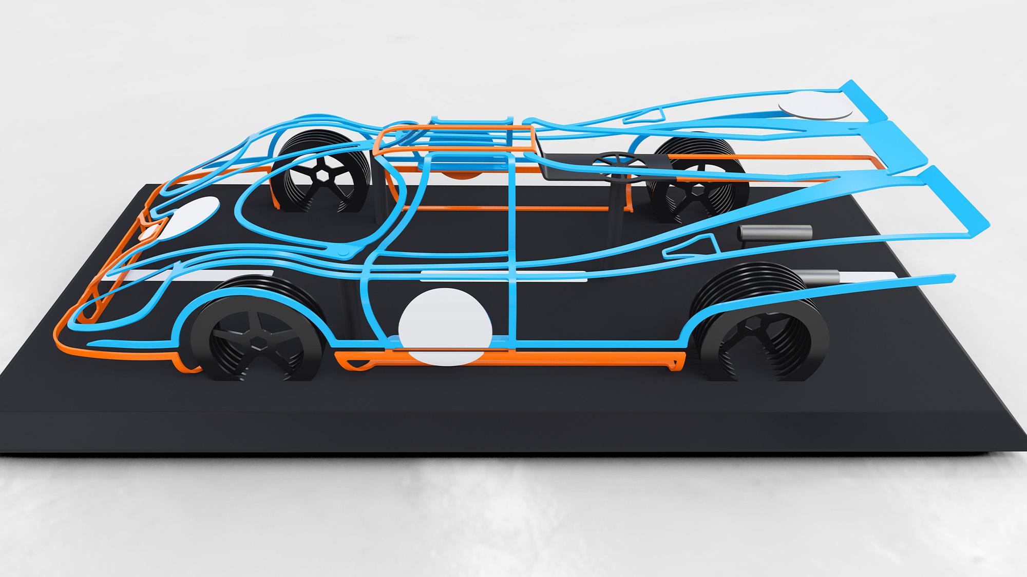Dave Clark Designs Porsche 917K sculpture