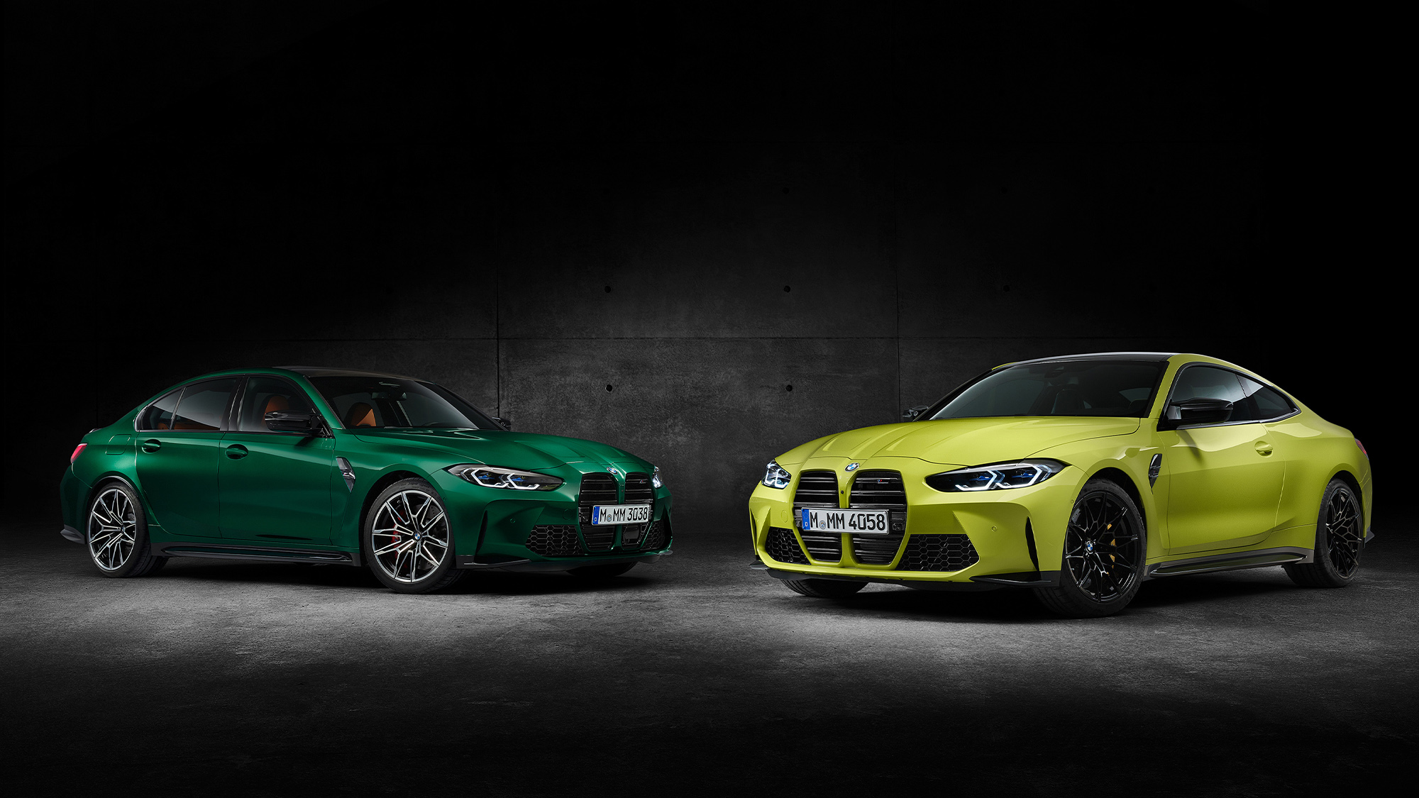 front view of 2021 BMW M3 and M4