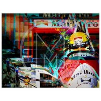 Product image for Ayrton Senna   McLaren-Honda   San Marino Grand Prix   1990   Andrew Barber   print