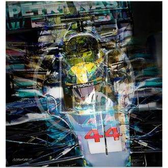 Product image for Lewis Hamilton   Mercedes   2017   Andrew Barber   print