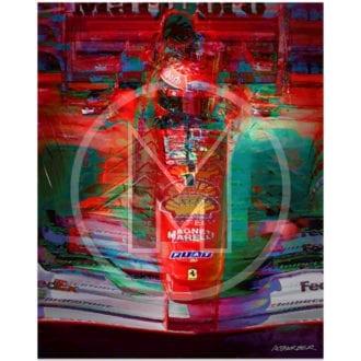 Product image for Michael Schumacher   Ferrari   Belgian Grand Prix   2001   Andrew Barber   print