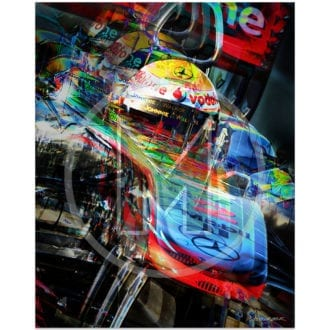 Product image for Lewis Hamilton   McLaren-Mercedes   Valencia   2011   Art Print