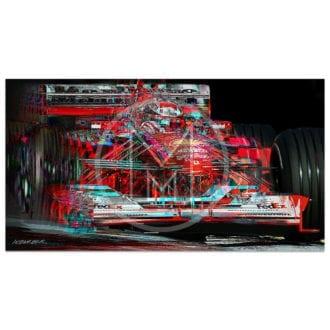 Product image for Michael Schumacher   Ferrari   San Marino Grand Prix   2000   Art Print