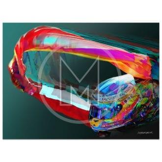 Product image for Fernando Alonso   Ferrari   2013   Art Print