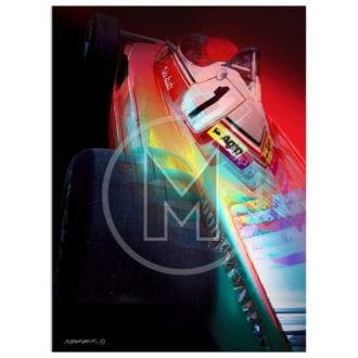 Product image for Niki Lauda   Ferrari 312 T2   Andrew Barber   print