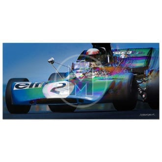 Product image for Jackie Stewart   Tyrell 003   German Grand Prix   1971   Andrew Barber   print