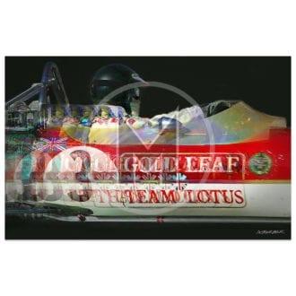 Product image for Jochen Rindt | Lotus 49 | Monaco Grand Prix | 1970 | Andrew Barber | print