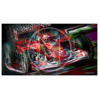 Product image for Michael Schumacher   Ferrari   Italian Grand Prix   2002   Andrew Barber   print