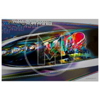 Product image for Nelso Piquet   Brabham BMW BT54   Brazilian Grand Prix   1985   Andrew Barber   print