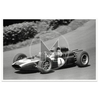Product image for 1961 German Grand Prix   Jack Brabham   Cooper   David Lewin   Photograph