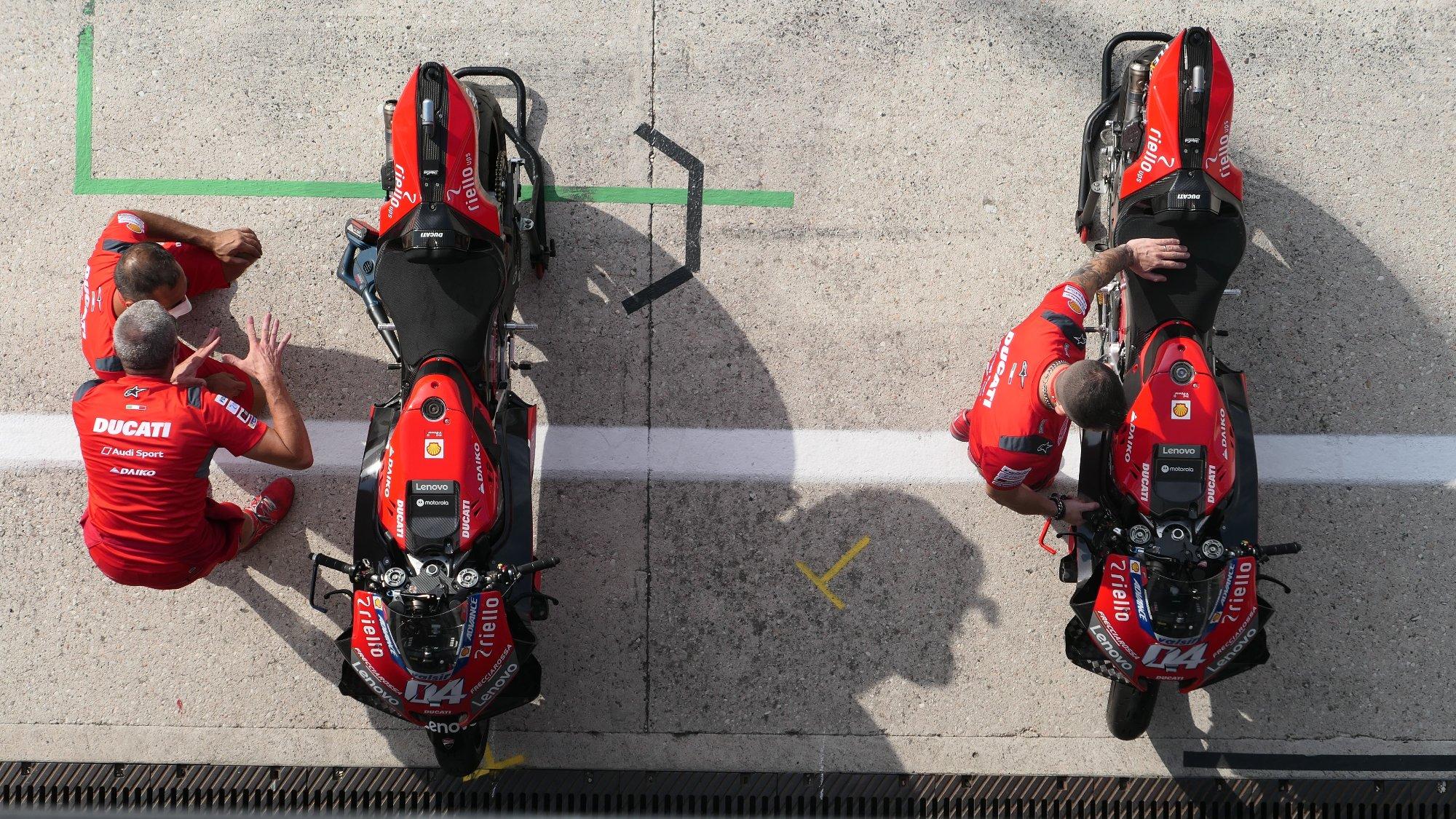 Ducati MotoGP mechanics, 2020 Barcelona