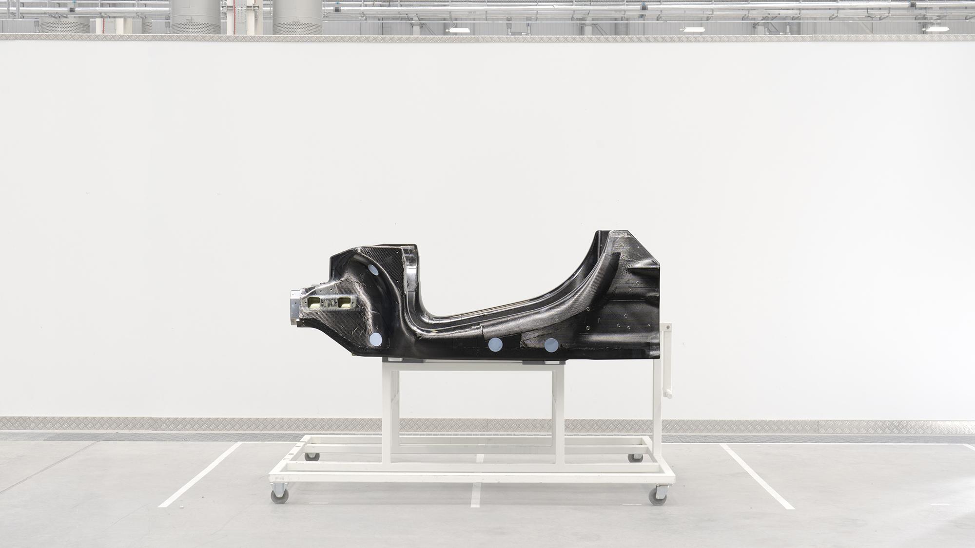 New McLaren P16 carbon fibre chassis