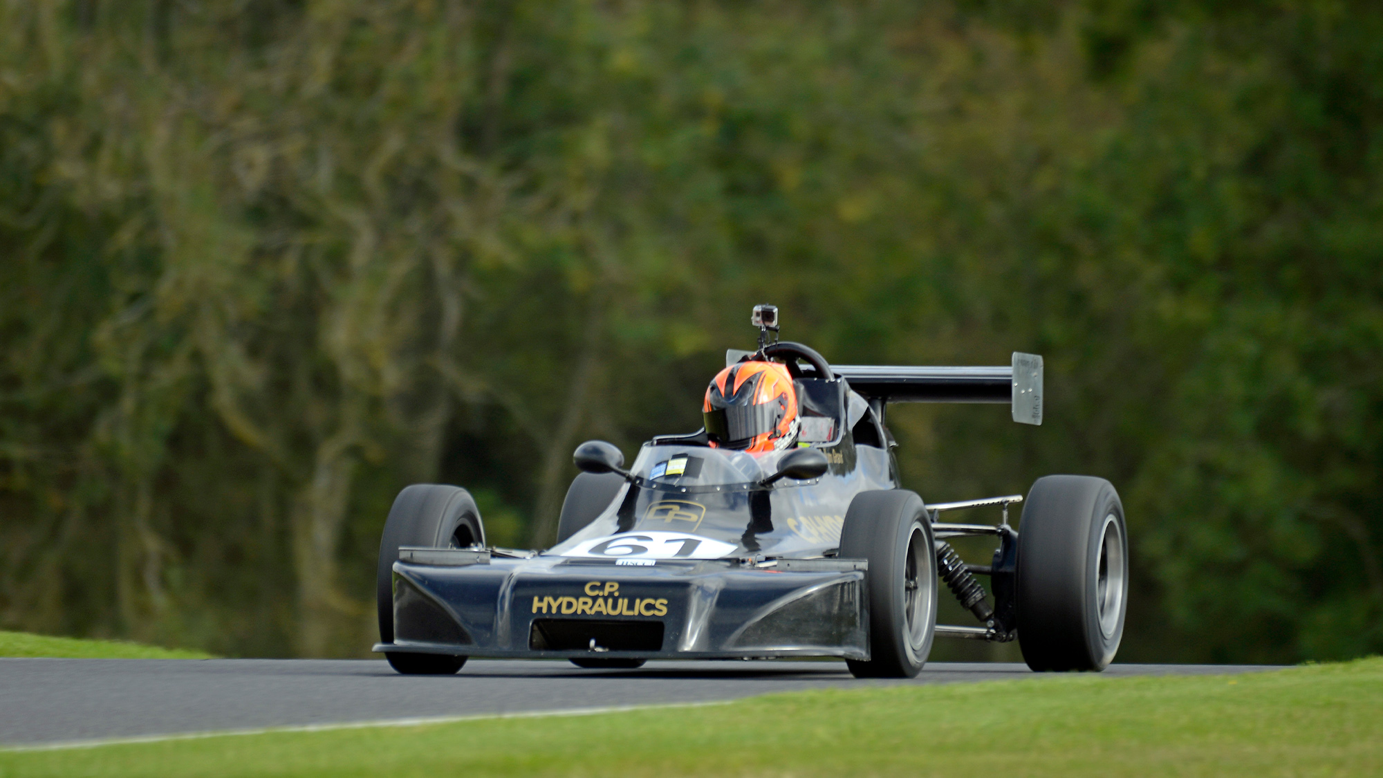 Callum Grant's Delta T78 in the September 2020 Wolds Trophy meeting at Cadwell Park
