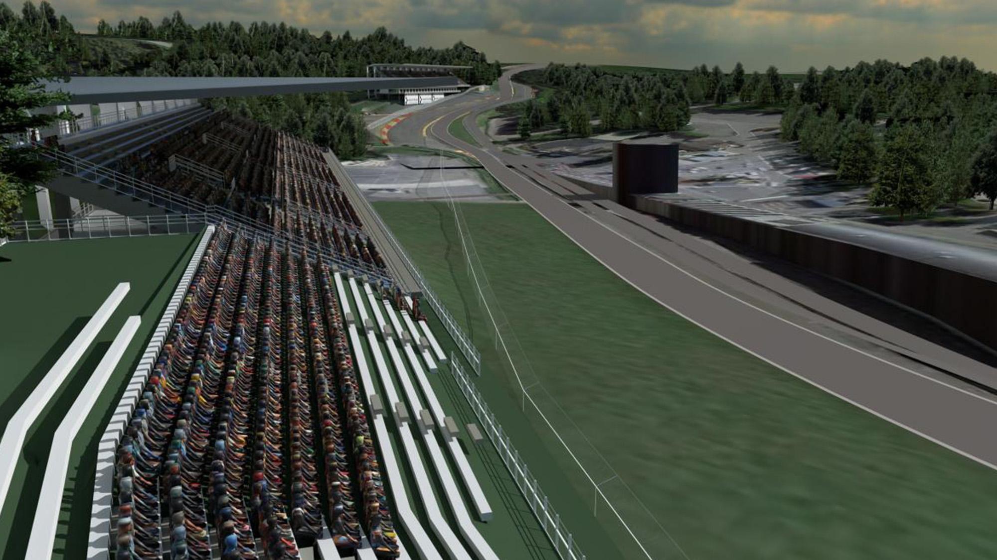 New grandstands & gravel traps in €80m Spa-Francorchamps revamp