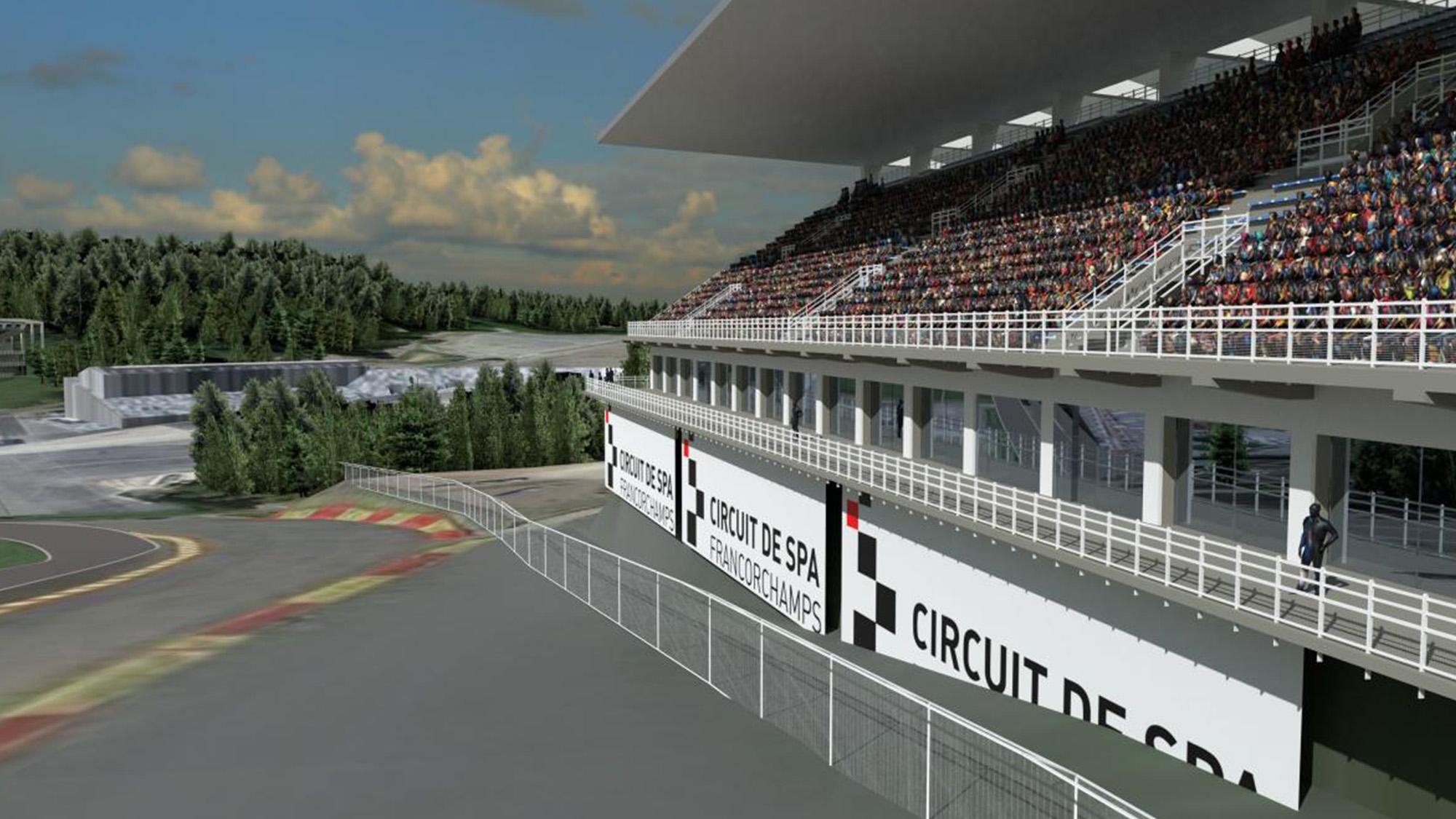Spa new Raidillon grandstand