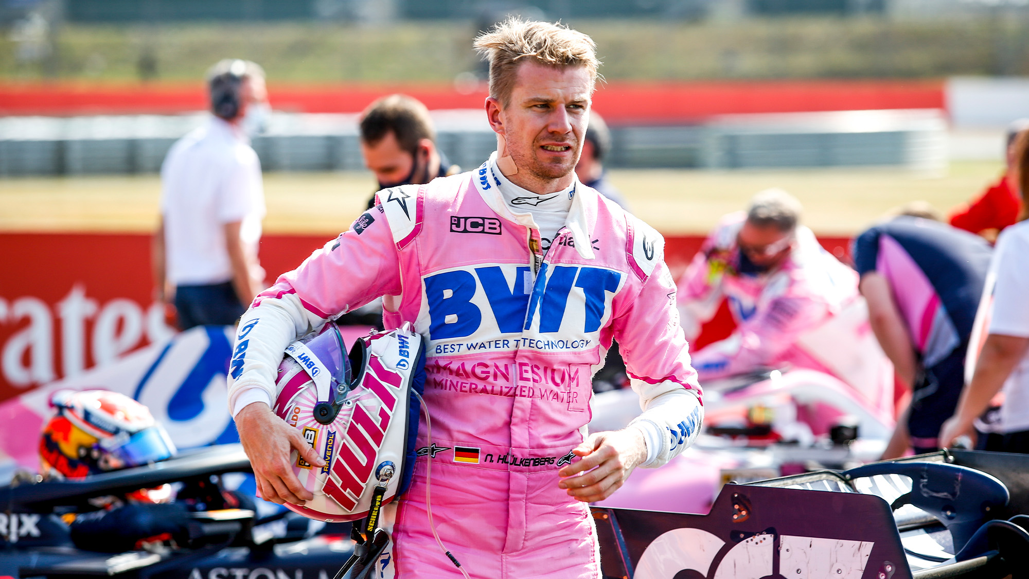 Nico Hulkenberg at Silverstone after the F1 70th Anniversary Grand Prix