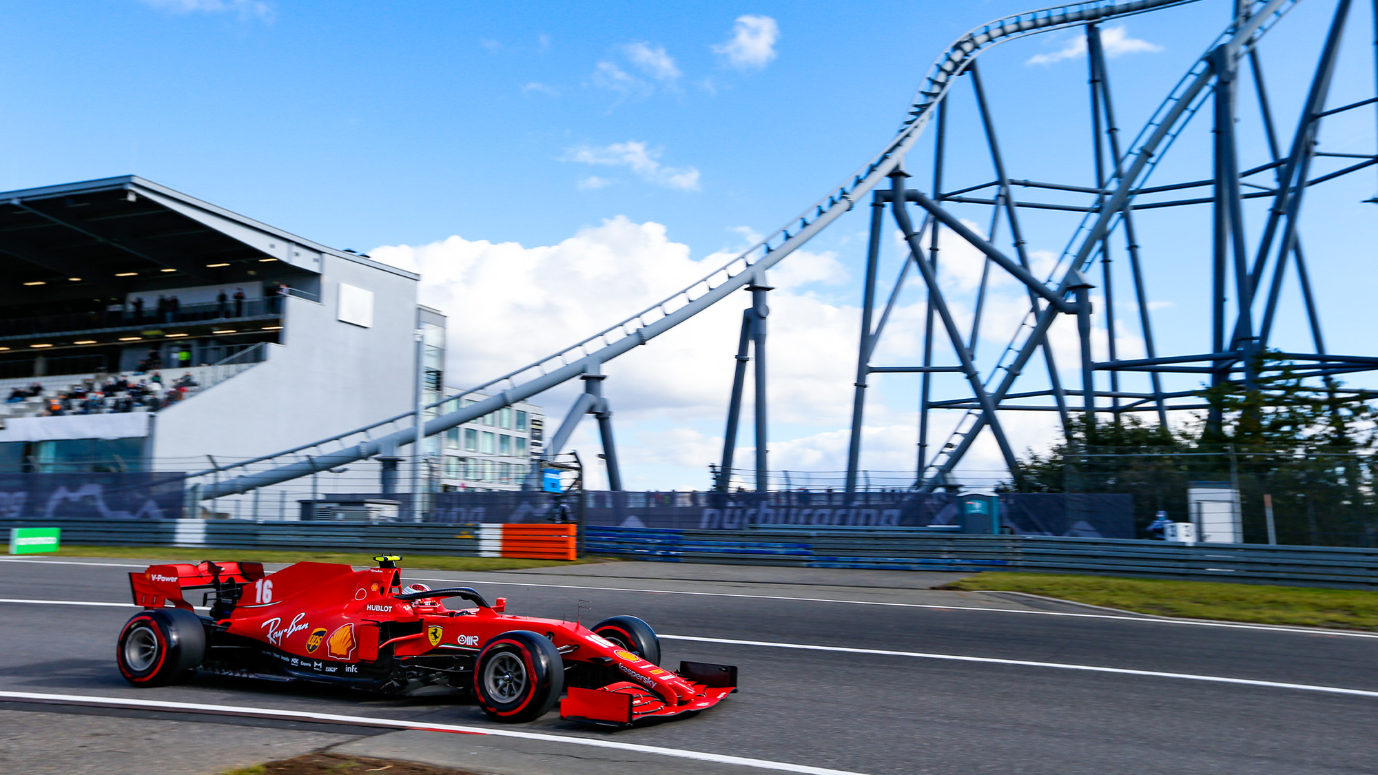 Charles Leclerc during qualifying at the Nurbuirgring for the 2020 F1 Eifel Grand Prix