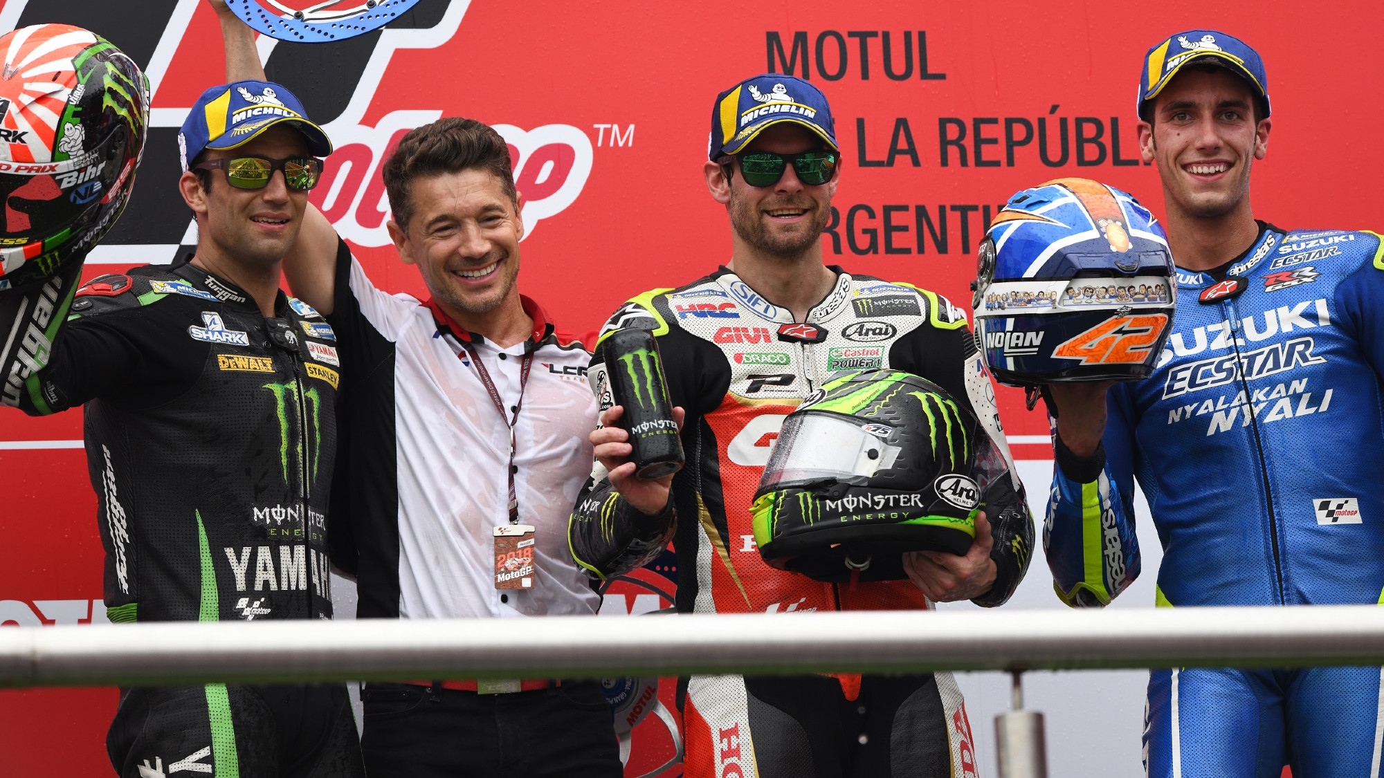 Cal Crutchlow with LCR team owner Lucio Cecchinello