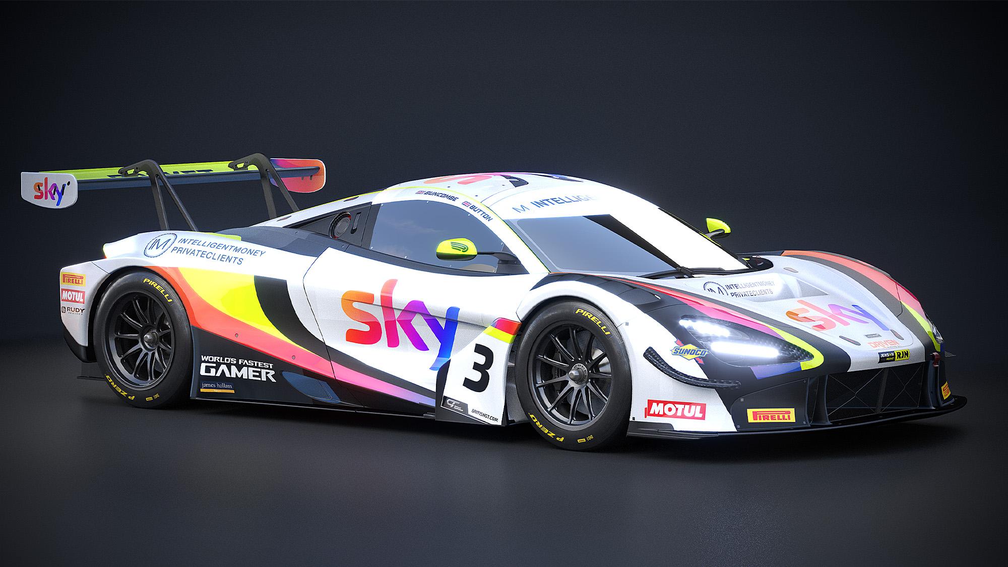 Jenson Button's McLaren 720S GT3 for 2020 Silverstone British GT round
