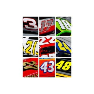 Product image for Nascar Numbers   Joel Clark   poster-print