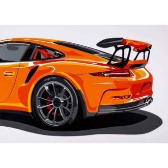 Product image for Porsche GT3RS   Joel Clark   poster-print