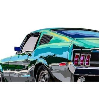 Product image for Bullitt Mustang   Joel Clark   poster-print