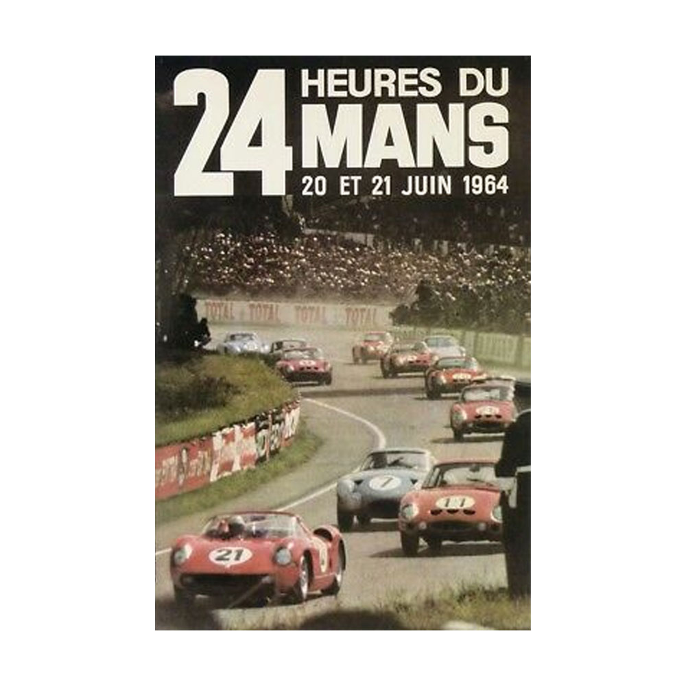 Product image for 24 Heures Du Mans 20 - 21 Juin 1964    Official Race Poster   Signed