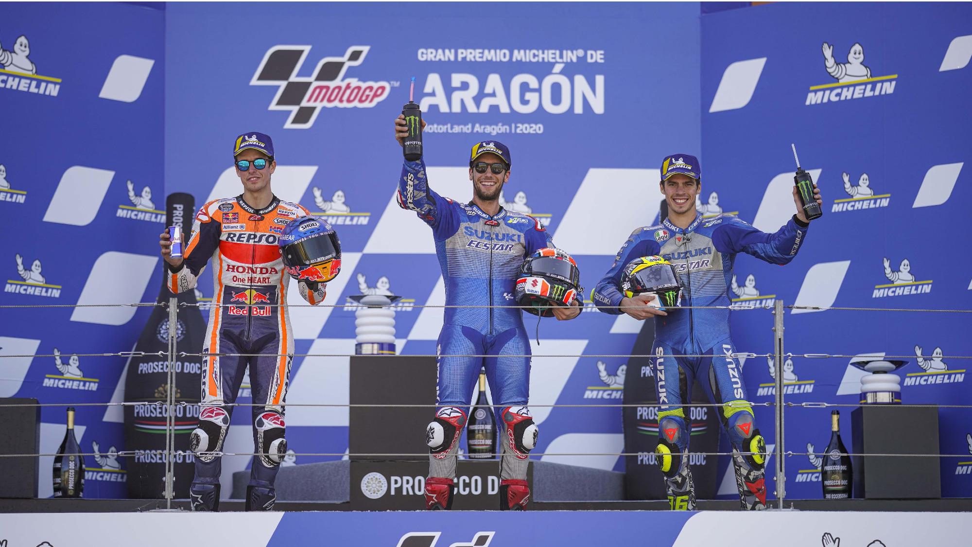 2020 Aragon GP MotoGP Podium