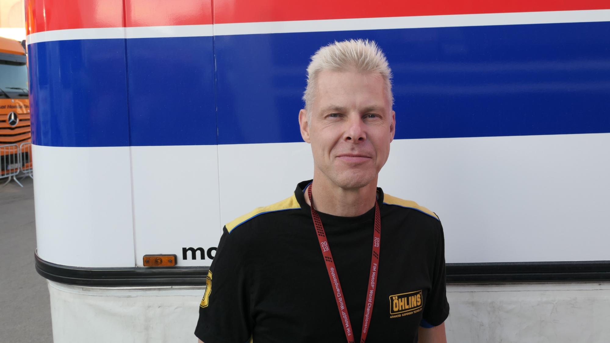 Ohlins suspension technician, 2020 MotoGP