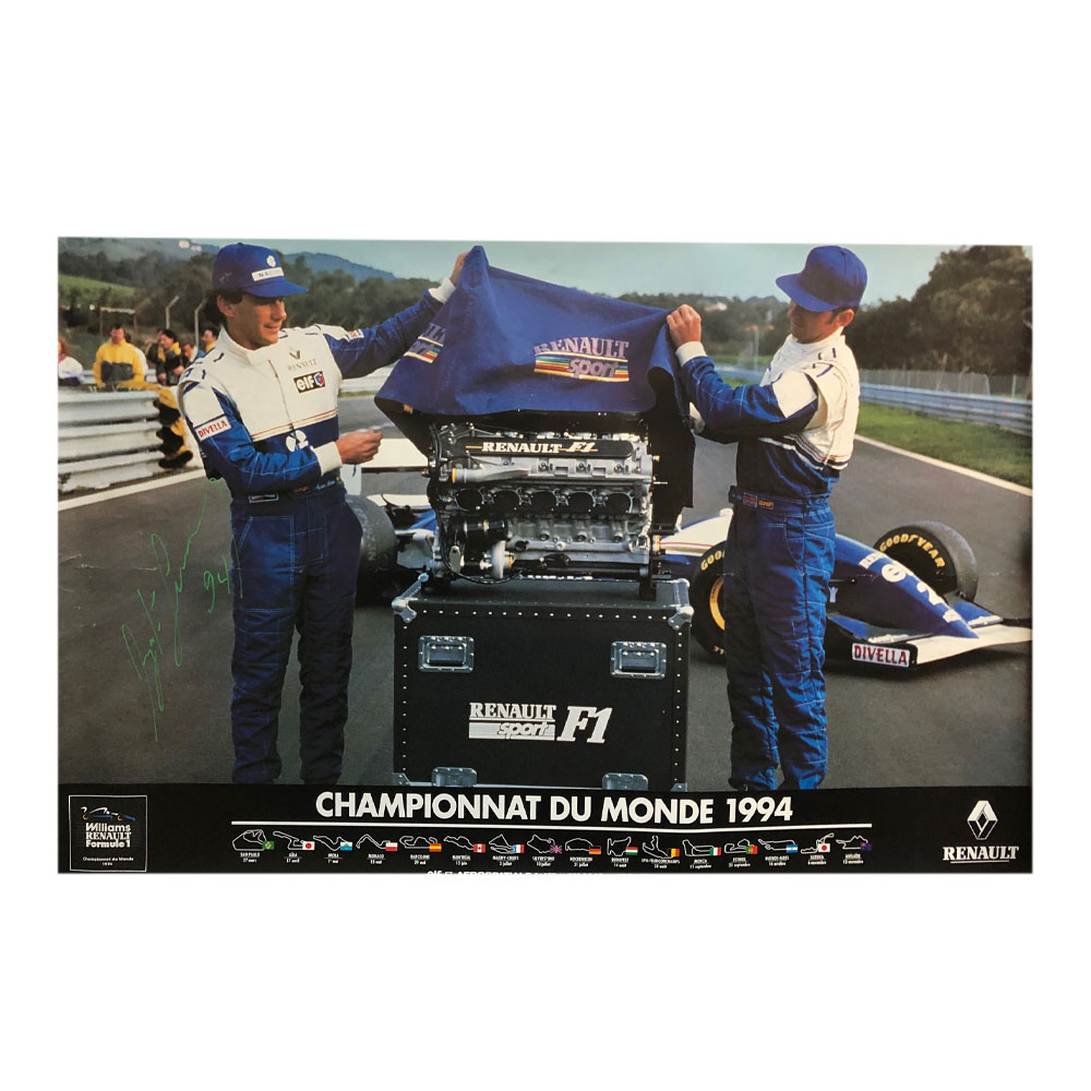 Product image for Championnat Du Monde 1994 | Williams | Poster | Signed by Ayrton Senna