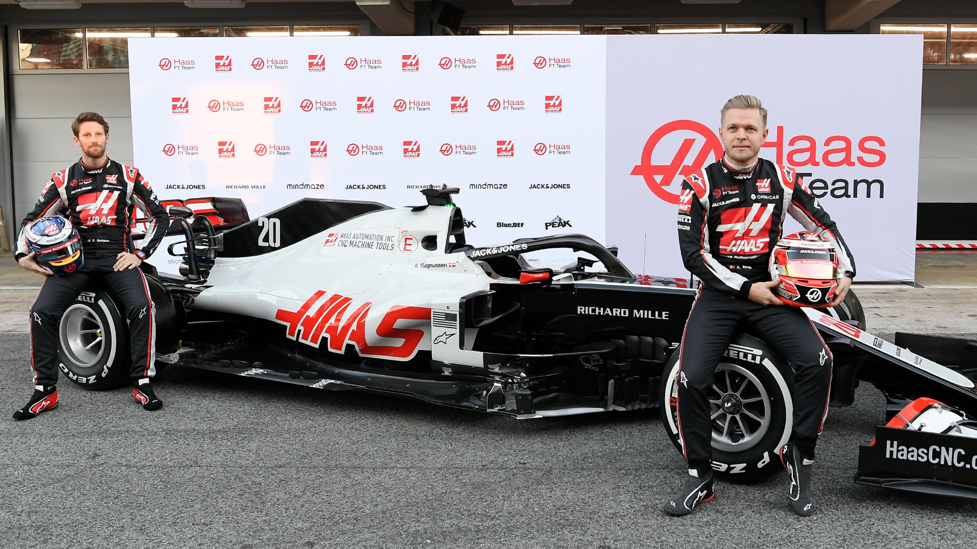 Romain Grosjean, Kevin Magnussen, Haas 2020 launch