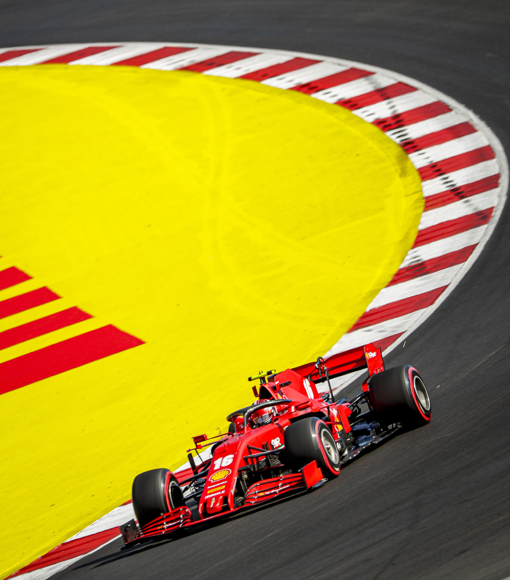 Charles-Leclercs-Ferrari-on-track-at-Portimao-during-qualifying-for-the-2020-Portuguese-Grand-Prix