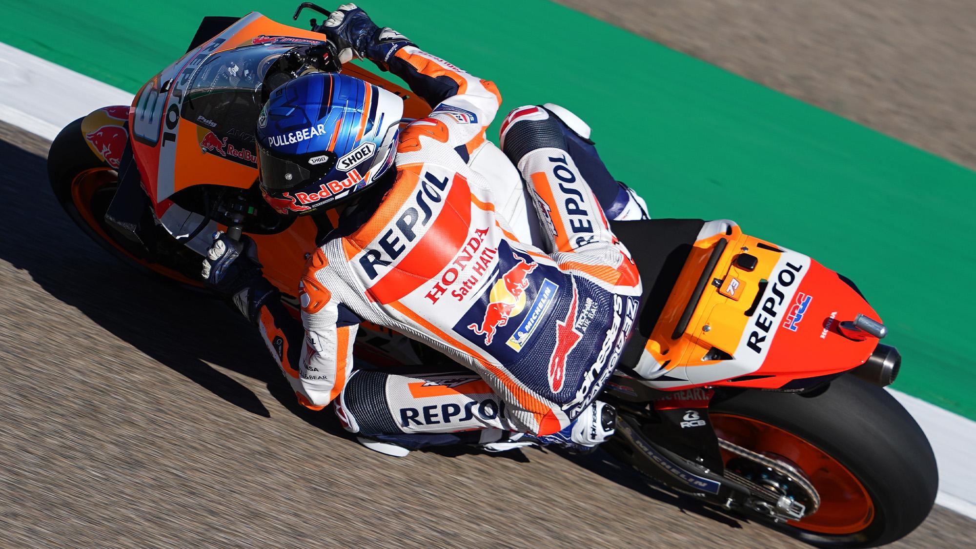 Alex Marquez on track at Aragon in the 2020 MotoGP Teruel Grand Prix