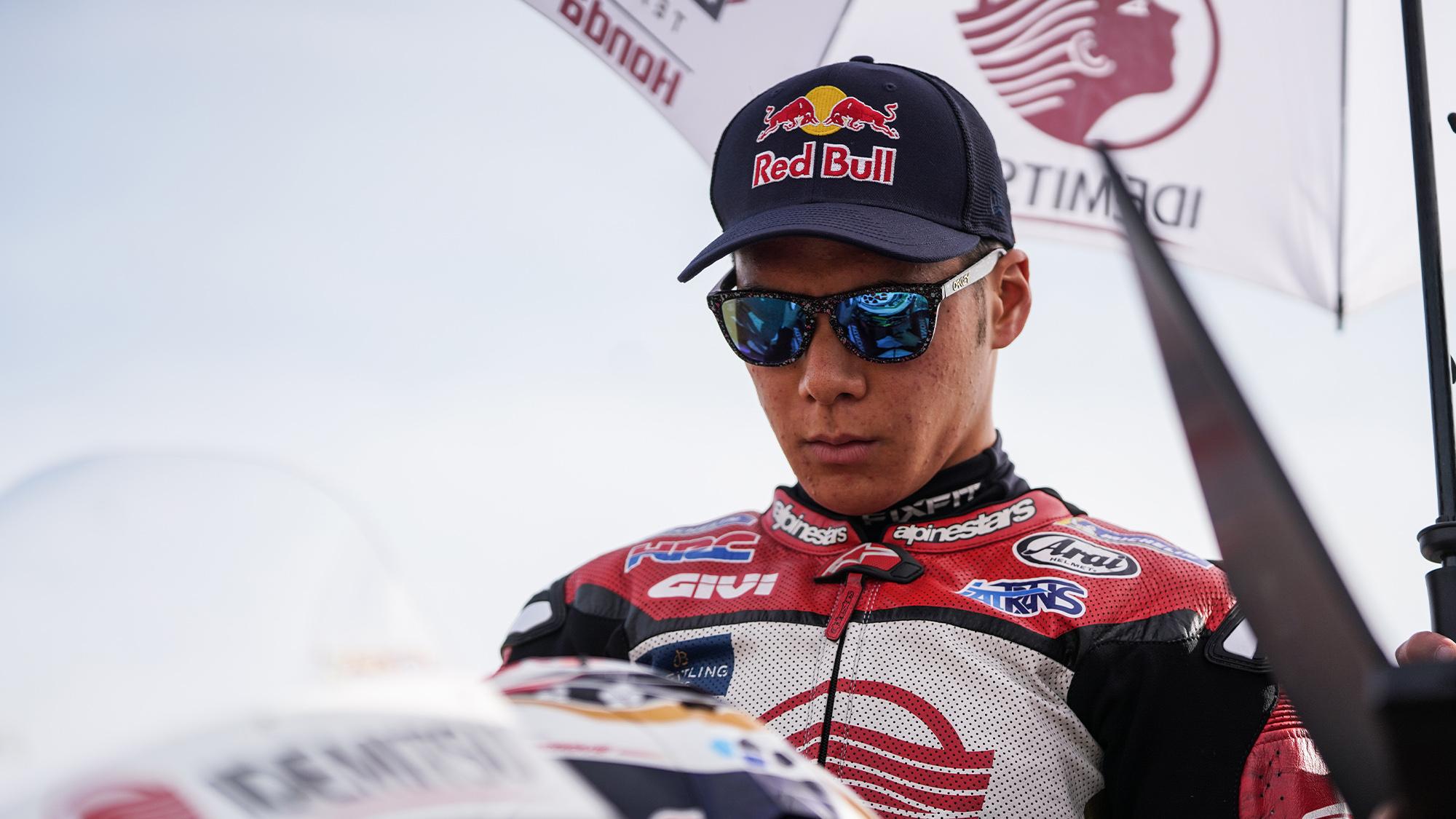 Takaaki Nakagami at Aragon for the 2020 MotoGP Teruel Grand Prix