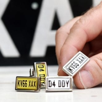 Product image for Number Plate | Personalised | Cufflinks