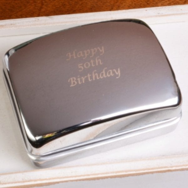 silver gift box cuff links engraved